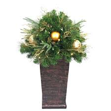 Christmas Topiaries Home Accents Holiday 36 In Valenzia Artificial Topiary With Resin