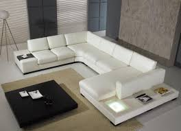 Modern White Bonded Leather Sectional Sofa White White Leather Sofa Is A Modern And Elegant Interior