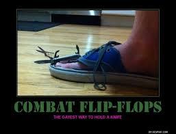 Meme Flip - combat flip flops meme guy
