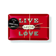 paper wrapped soap wrapped soap live laugh currant cassis