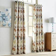 Pier One Paisley Curtains by Midnight Floral Dove Grommet Curtain Pier 1 Imports