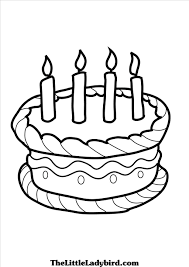 marvelous birthday cake coloring pages printable coloring pages