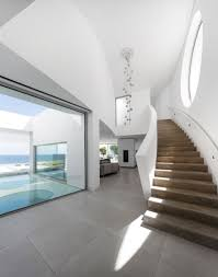 a house of curves on the coast staircases window and modern