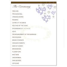 purple wedding programs purple brown wedding program templates lavender do it