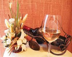 flowers wine and wine pyrography by kovats daniela