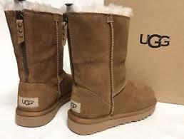 ugg s zip boots ugg australia back zip chestnut 1091634 sheepskin