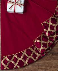 tree skirts burgundy gold velvet christmas tree classics tree skirt