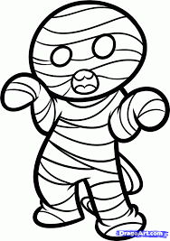 how to draw a halloween mummy step by step halloween seasonal