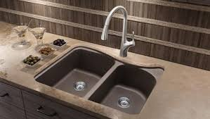 brown kitchen sinks shop here blanco 446001 classic silgranit double bowl kitchen