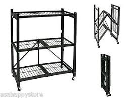 Shelves On Wheels by Storage Rack Folding Shelves W Wheels Heavy Duty Shelf Garage