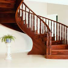 interior wooden railing stairs for lovely home unvarnished brown