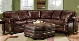 enchanting brown leather sectional sofa soft brown leather