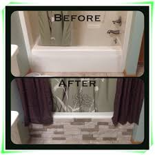 updating bathroom ideas i used airstone from lowes on my tub and easy cheap fixture the