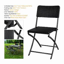 Patio Chair Material Us Stock Ikayaa 4ft Folding Camping Picnic Table Portable Outdoor