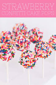 cake pops strawberry confetti cake pops sprinkles for breakfast