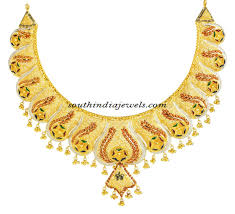 necklace design with price images Latest 22k gold necklace from kerala jewellers south india jewels jpg