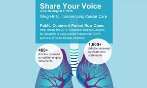 Association Of Pathology Chairs International Lung Cancer Experts Seek Public Comments On Revised