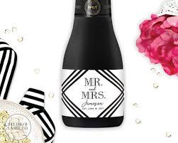wedding favor labels wedding favor mini chagne labels mr mrs studio b labels