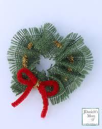 motor skills diy wreath ornament