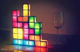 Diy Led Desk L Shop New Diy Tetris Puzzle Light Stackable Led Desk L
