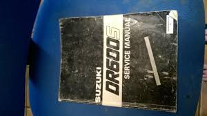 for sale suzuki dr 600 service manual