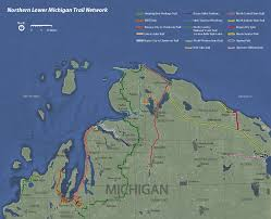 Map Of Northern Michigan by Northern Lower Michigan Trail Network Tart Trails