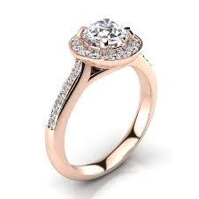 Circle Diamond Wedding Ring by Halo Designer 18k Gold G Vs Round Diamond Engagement Ring 1 1ct By