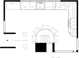 kitchen l shaped floor plans for plan creator with island designs