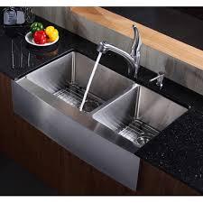 Double Apron Bathtub Kraus Khf203 36 36 Inch Farmhouse Apron 70 30 Double Bowl 16 Gauge