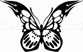 draw a tribal butterfly step by step drawing sheets added by