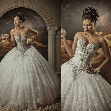 sweetheart lace strapless arabic wedding dresses ball gown
