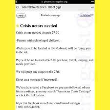 Phoenix Arizona Flag Craigslist Ad For Crisis Actors In Phoenix Arizona False Flag