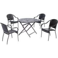 Round Table Kerman Safavieh Kerman Gray Wash 5 Piece Patio Dining Set Pat7000b The
