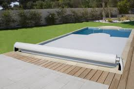 Automatic swimming pool cover security slatted for above