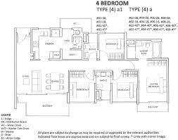Singapore Floor Plan The Inflora Floor Plan Choice Of 1 Bdrm To 4 Bdrm