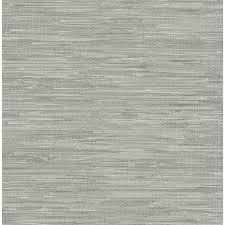 nuwallpaper peel and stick wallpaper grey vinyl grasscloth