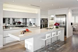 Mirrored Kitchen Backsplash Make Your Kitchen Seem Larger And Brighter By Using A Mirror
