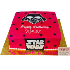 wars birthday cakes 2241 pink wars darth vader birthday cake square abc cake