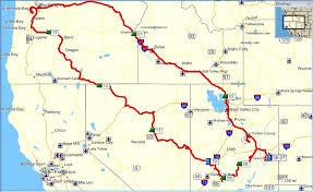 map of oregon nevada oregon to utah to nevada back motorcycle trip 2014