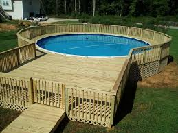 Above Ground Pool Landscaping Ideas Landscape Round Above Ground Pool Landscaping Ideas With Pallets