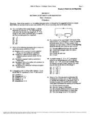 Ap Physics C Reference Table 1993 Ap Physics C Multiple Choice Exam Page 8 Copyright 1976 To