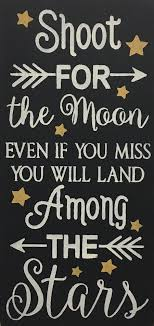 12 x 24 shoot for the moon saras signs