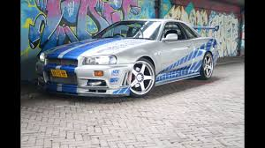 nissan skyline fast and furious paul walker race things 1999 nissan skyline r34 gt r archives race things