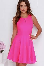 Pink Skater Dress Naf Dresses
