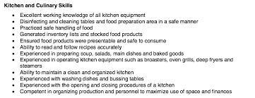 resume example 47 college of culinary resume examples list of