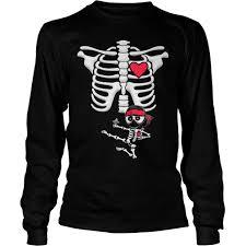 Maternity Halloween T Shirt by Maternity Baby Ninja Skeleton Halloween Shirt Hoodie Sweater