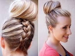 big bun hair braid hairstyles with high big bun for hair