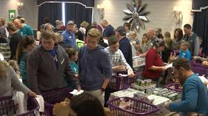 basket brigade provides help to 200 families for thanksgiving
