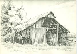 five unframed pencil drawings by barbara flock parke county