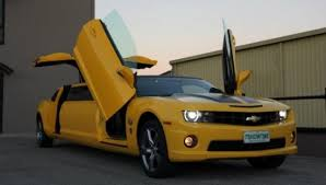 customized camaro chevrolet camaro ss transformers special edition limo for autobot fans